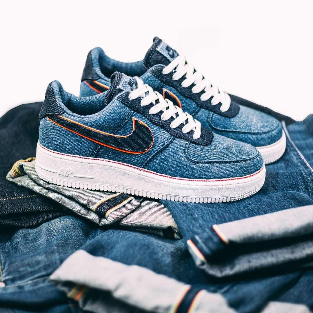3x1 X Nike Air Force 1 Low Premium Blue Denim Https Isds Co Sc 905345 403 Credit Afew Nike Airf Nike Shoes Blue Nike Air Shoes Mens Nike Shoes