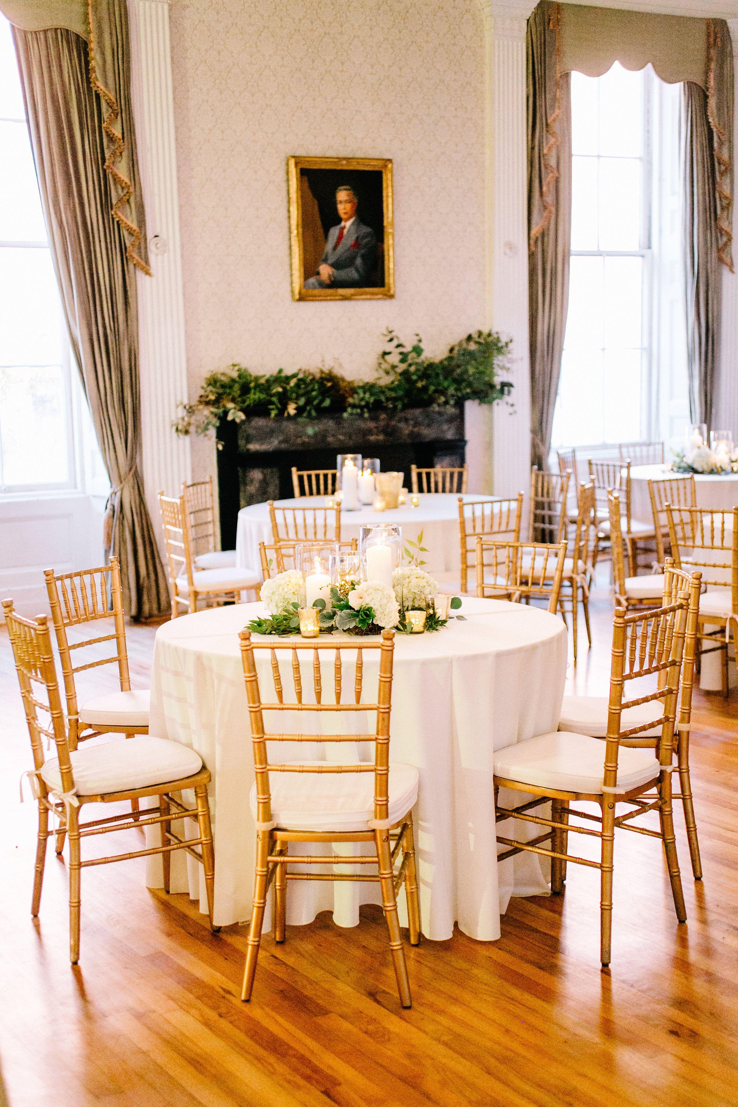Gold Chiavari Chairs Hibernian Hall Wedding by