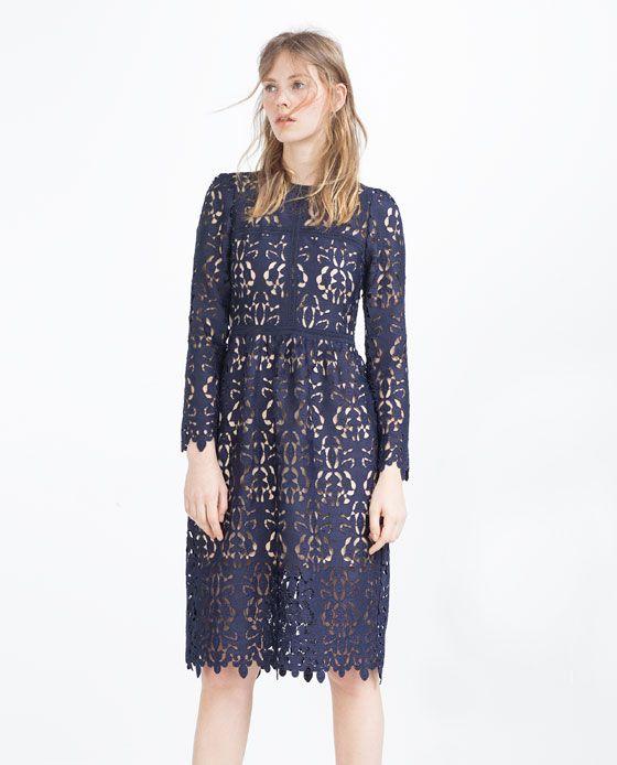 precio tienda del reino unido venta caliente barato ZARA - WOMAN - LACE DRESS | DRESSES | Vestidos, Vestidos de ...