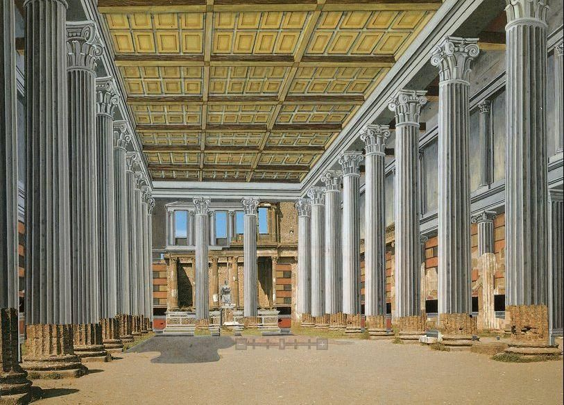 Domus flavia reconstruction google search ancient rome for Architecture romaine