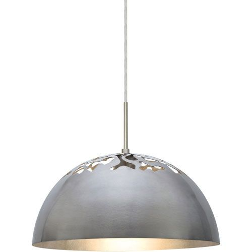 Gordy Satin Nickel One-Light Mini Pendant with Silver Reflector Shade