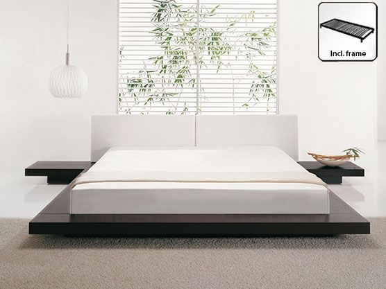 Eu Super King Size Bed Dark Wood Zen Modern Bed Elegant Bedroom