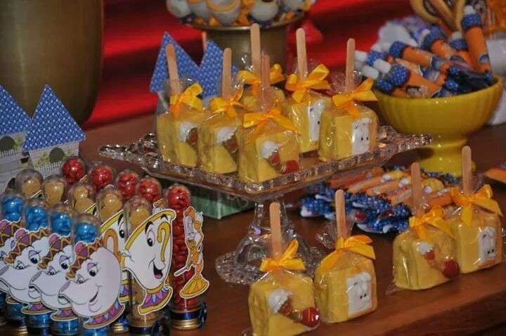 Belle beauty and the beast birthday party ideas birthdays for Beauty and the beast table and chairs