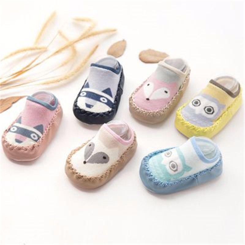 Buy Baby Shoes Socks Children Infant Cartoon Socks Baby Gift Kids Indoor Floor Socks Leather Sole Non Slip Thick Towel Socks Spadbarn Skor Lader