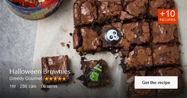 Halloween Brownies are a must this Halloween, if you want to go trick or treating. These will certainly trick a …. Available via greedygourmet.com. #halloweenbrownies