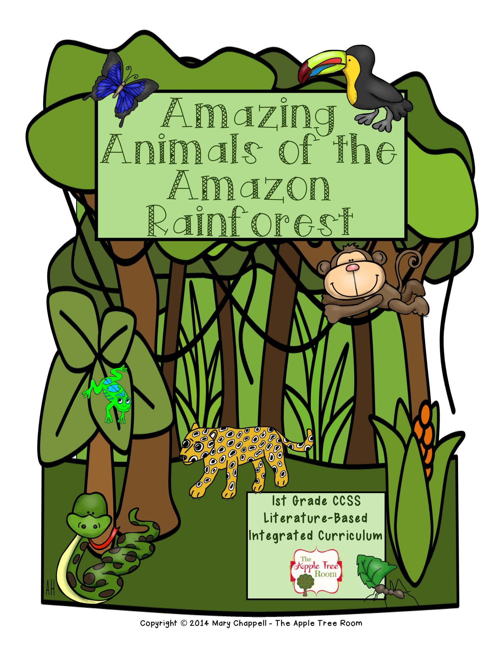 Amazon Rainforest Animals Research Writing And Craft Projects