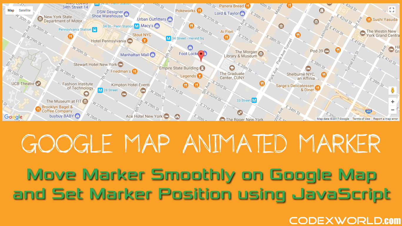 How to Move Marker Smoothly on Google Map using JavaScript