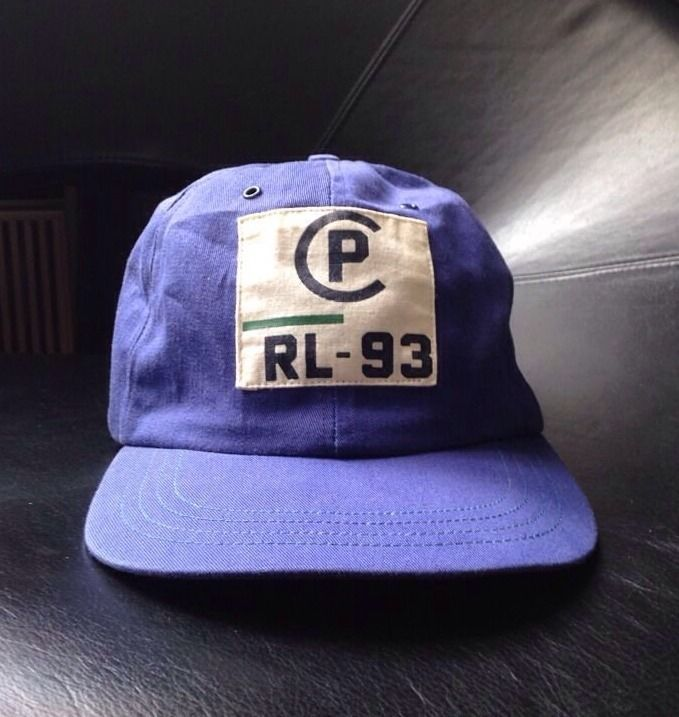29b7ee9c6c321 vintage Polo ralph lauren 1993 fitted Rlpc Hat 92 PWing Usa Bear 2000 Rare  XL