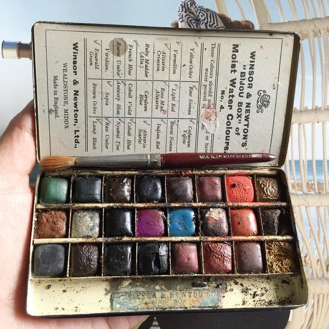 Winsor And Newton Cotman 45 Half Pan Watercolour Set Ebay