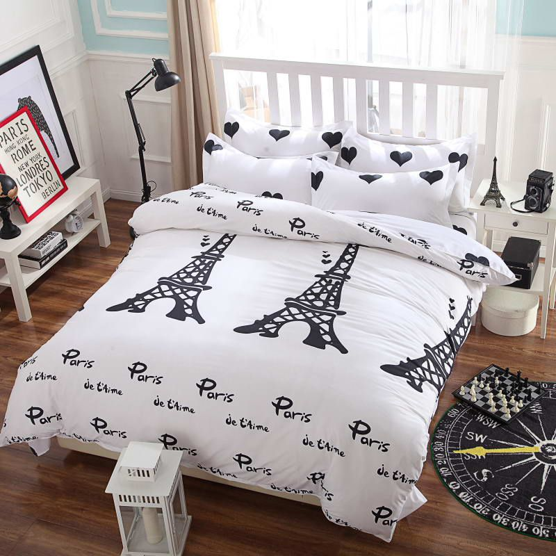 Summer Style Cotton Bedding Sets Super Soft Owl Twin Full