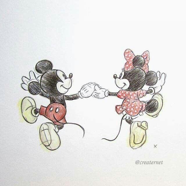 Mickey Et Minnie Dessin Mickey Dessins Disney Mickey Et Minnie