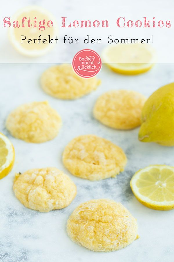 Saftige Lemon Cookies (Zitronenkekse) | Backen macht glücklich