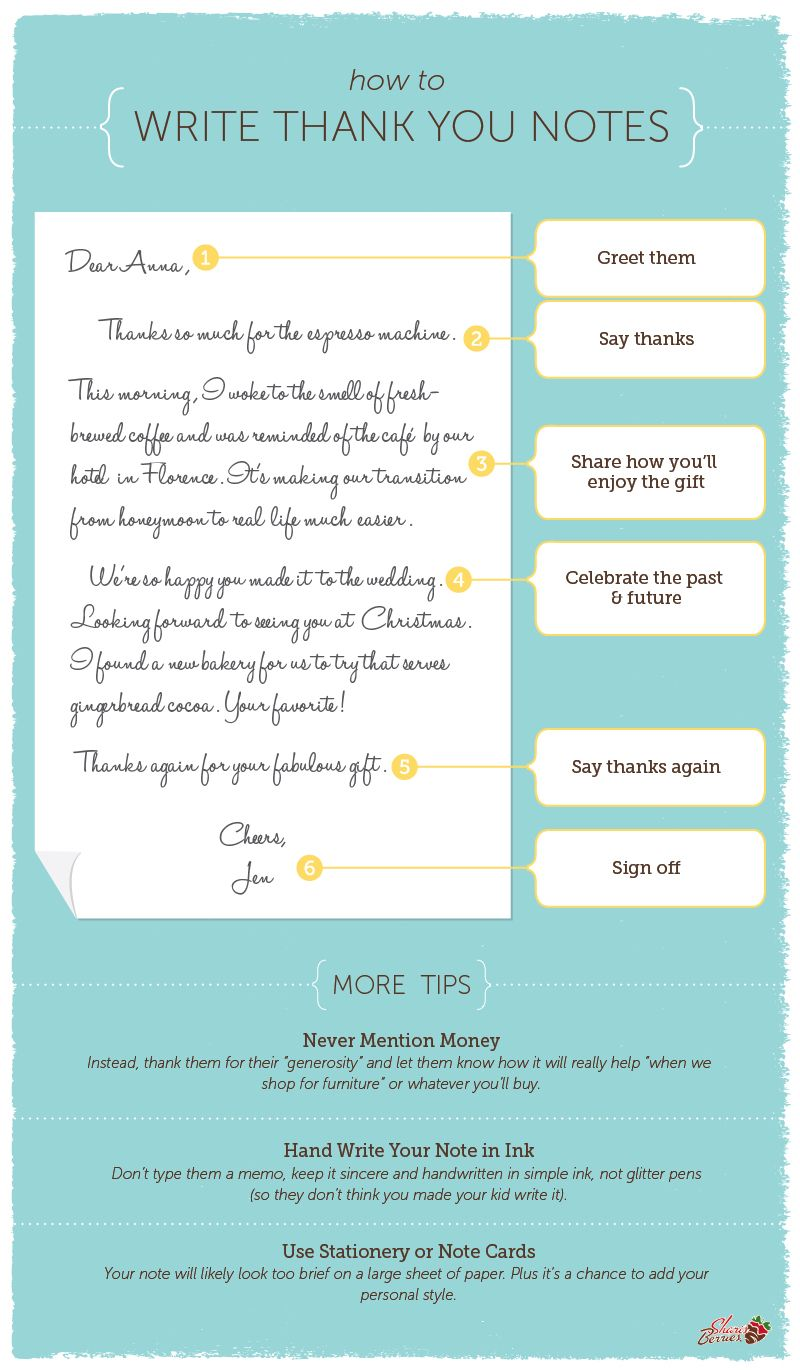 How To Write Thank You Notes  Note Birthdays And Weddings