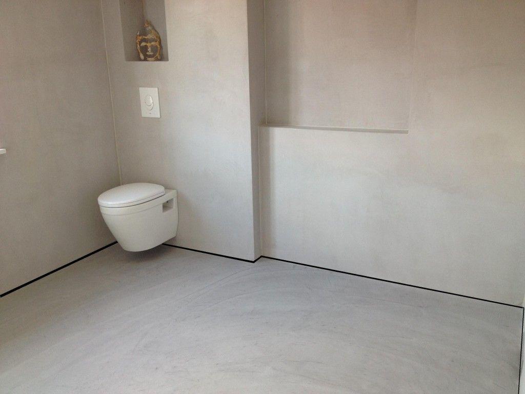 Bad Wand Im Boden Im Gleichen Putz Fugenlose Schonheit Farbefreudeleben Badezimmer Verputzen Bad Wand Badezimmer Fliesen