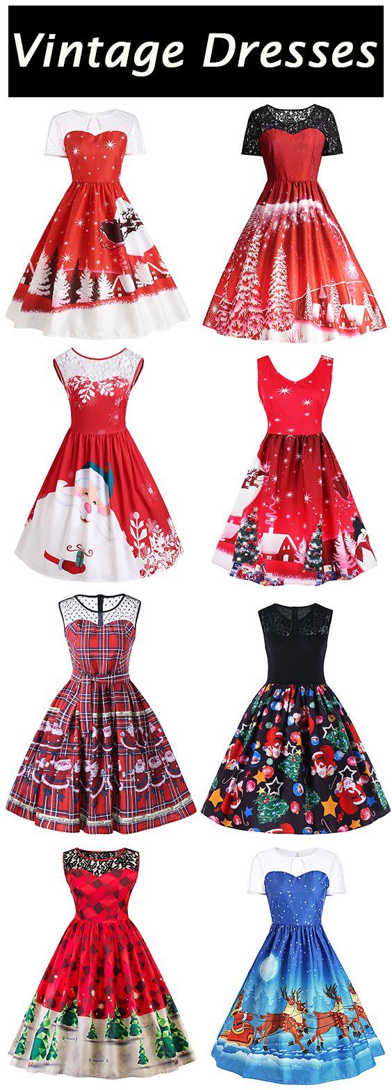 50 Christmas Vintage Dresses Free Shipping Worldwide Vintage Christmas Dress Vintage Dresses 1940s Vintage Dresses