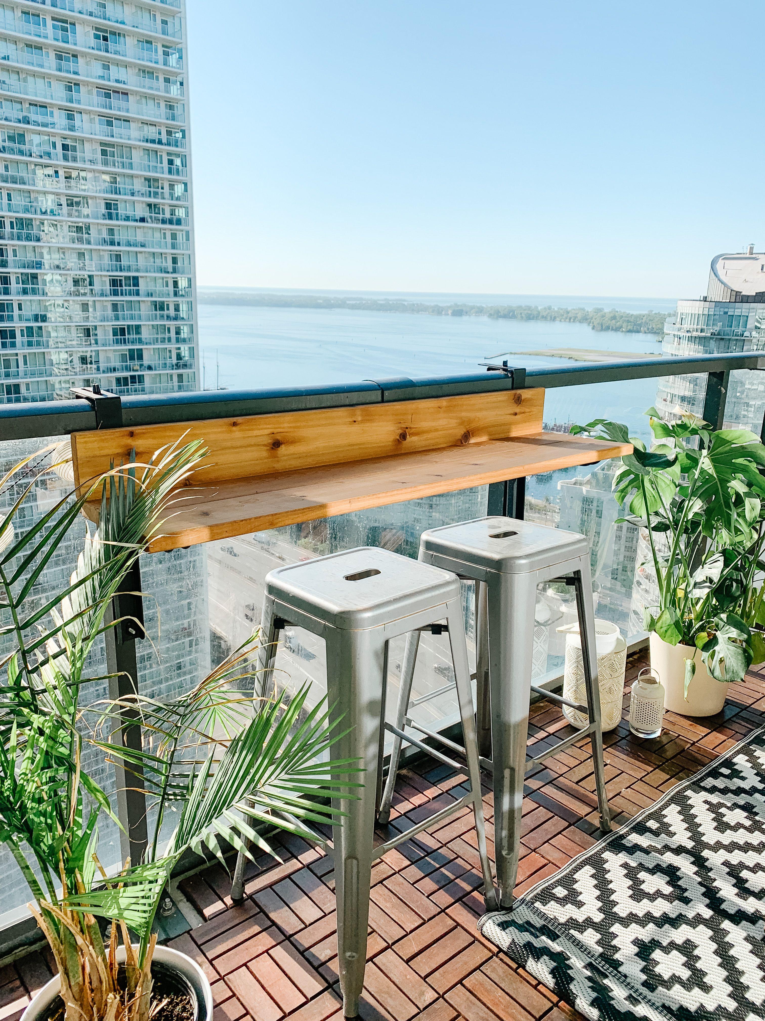 Views Balcony Bar in 14  Balcony bar, Condo decorating, Balcony