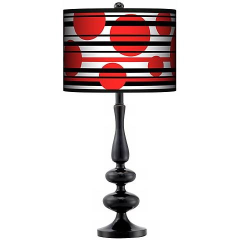 Red balls giclee paley black table lamp style n5714 p9102 red balls giclee paley black table lamp n5714 p9102 lamps plus aloadofball Gallery