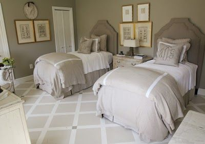 Guest Bedroom Twin Beds And Rug! J Covington Interior Design Show