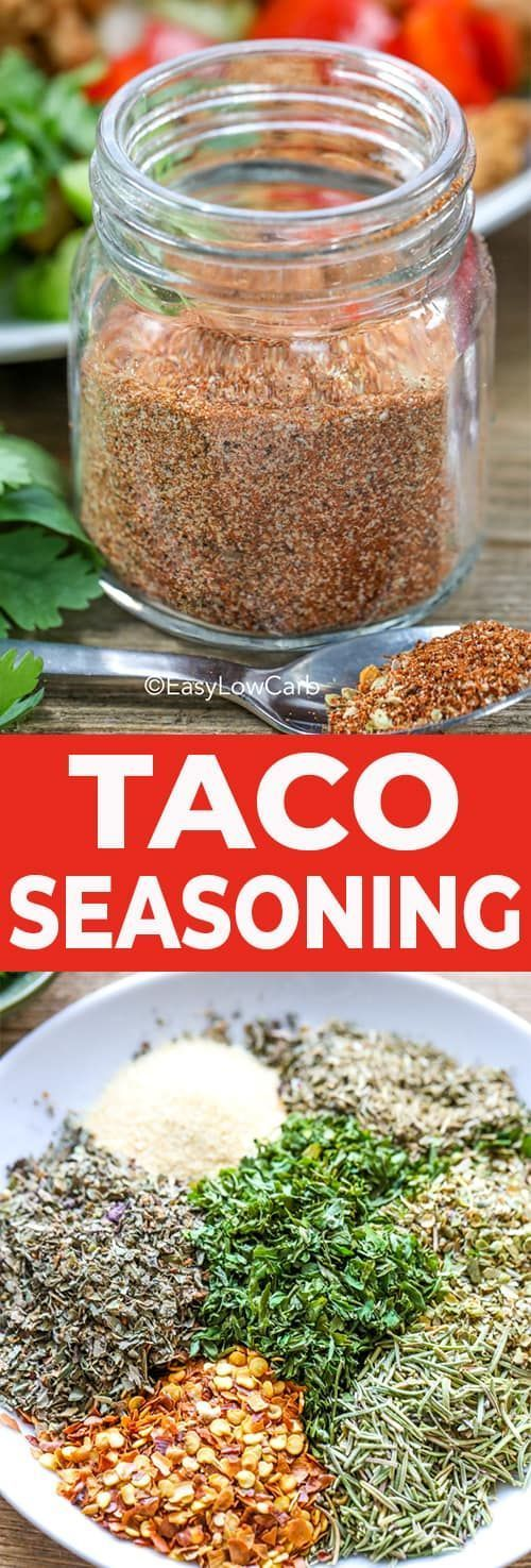 Why buy store-bought when you can make this savory, and as spicy as you want it to be, homemade Keto Taco Seasoning recipe! Perfect to add to your favorite beef, chicken, pork or even seafood recipes! #easylowcarb #ketotacoseasoning #homemadetacoseasoning #keto #diy #bestseasoning #easytacoseasoning #lowcarb #seasoningrecipe #diytacoseasoning Why buy store-bought when you can make this savory, and as spicy as you want it to be, homemade Keto Taco Seasoning recipe! Perfect to add to your favorite #diytacoseasoning