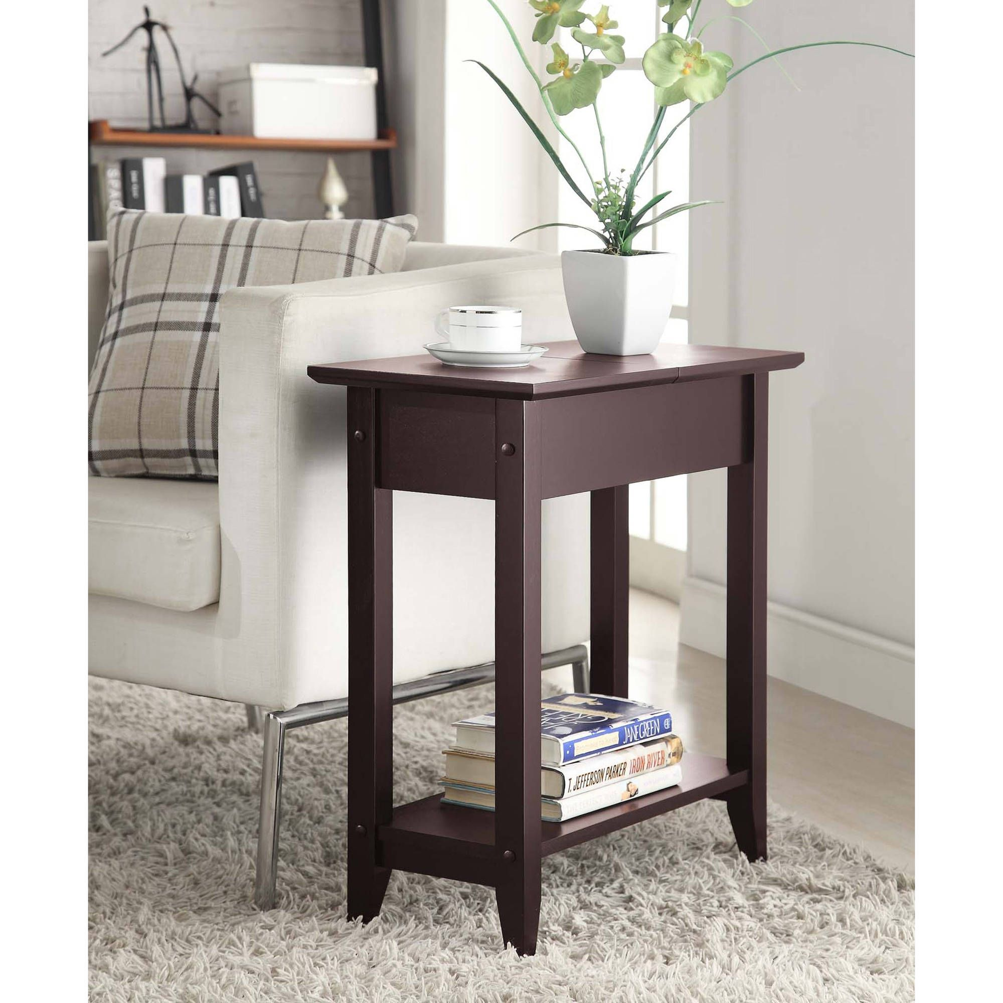 American heritage flip top tall side table multiple colors american heritage flip top tall side table multiple colors geotapseo Images