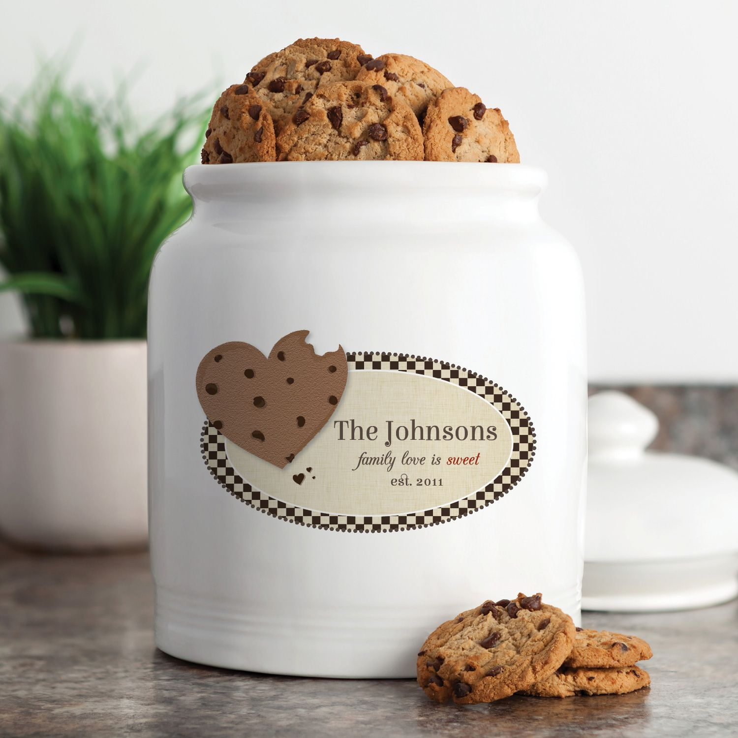 Family Love Is Sweet Personalized Cookie Jar - Treat Jars   Personalized Planet