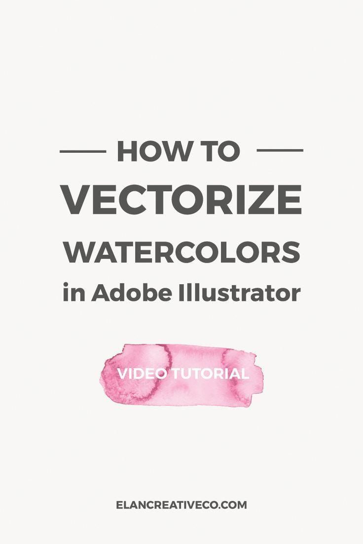 In this tutorial, I want to show you how to vectorize watercolors in Illustrator. This will help you scale your watercolors and you will have an easie...