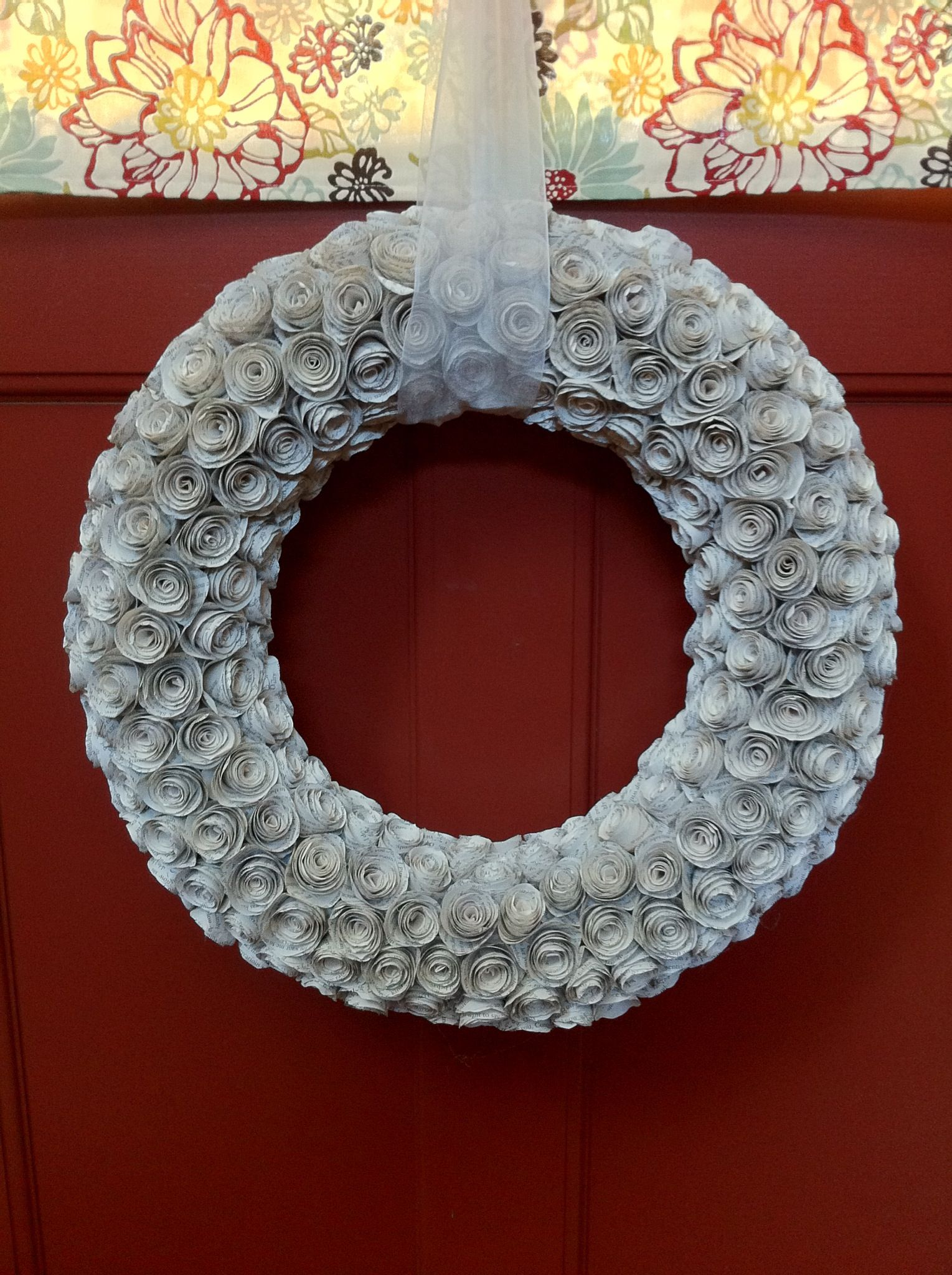 How to Make a Paper Rose Wreath Recipe (With images