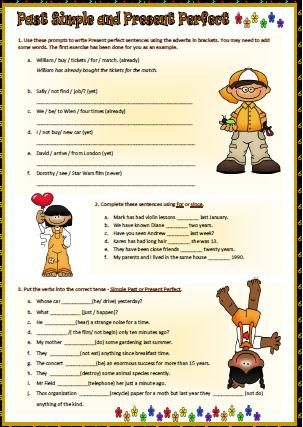 Past Simple and Present Perfect Worksheet | English | Pinterest ...