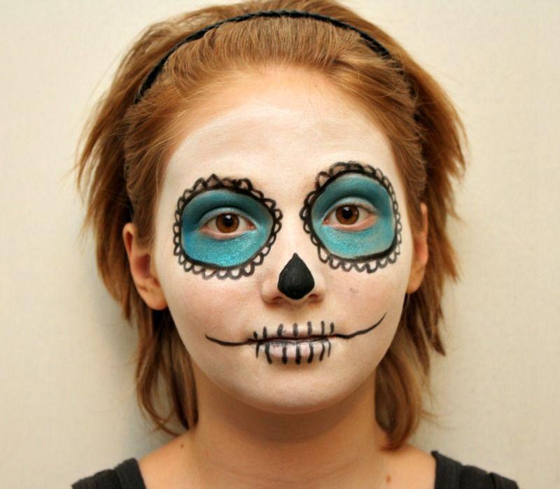 Easy Beginner Skull: Easy Sugar Skull Makeup Tutorial For Beginners