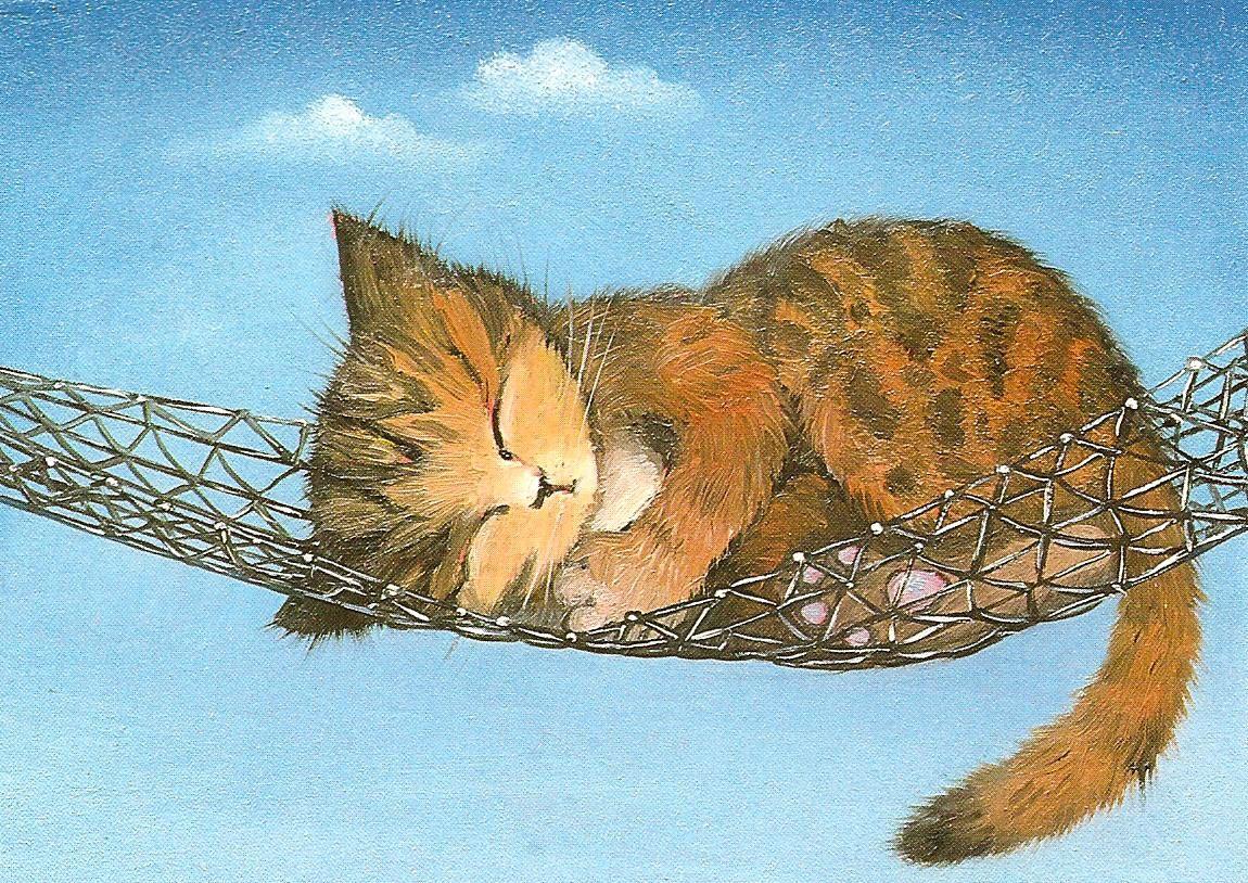 Картинки спящих котов рисунки, открытки скрап