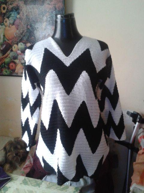 Chaleco tejido a crochet 3f3cade35f9d