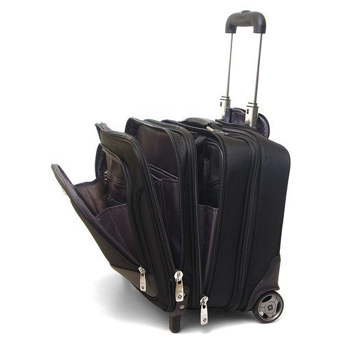 Style 933295 Samsonite Rolling Briefcase On Wheels Bonus Laptop Case 2 In 1 Overnight Bag New