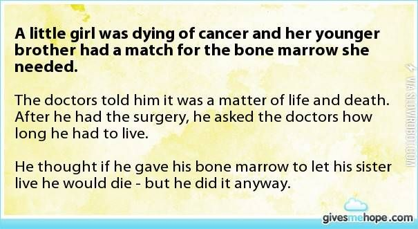 a little girl was dying...