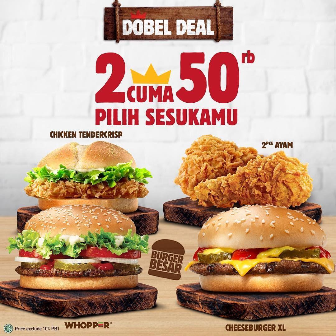 Double Deal Burger King Indonesia Makanan Dan Minuman Makanan Burger