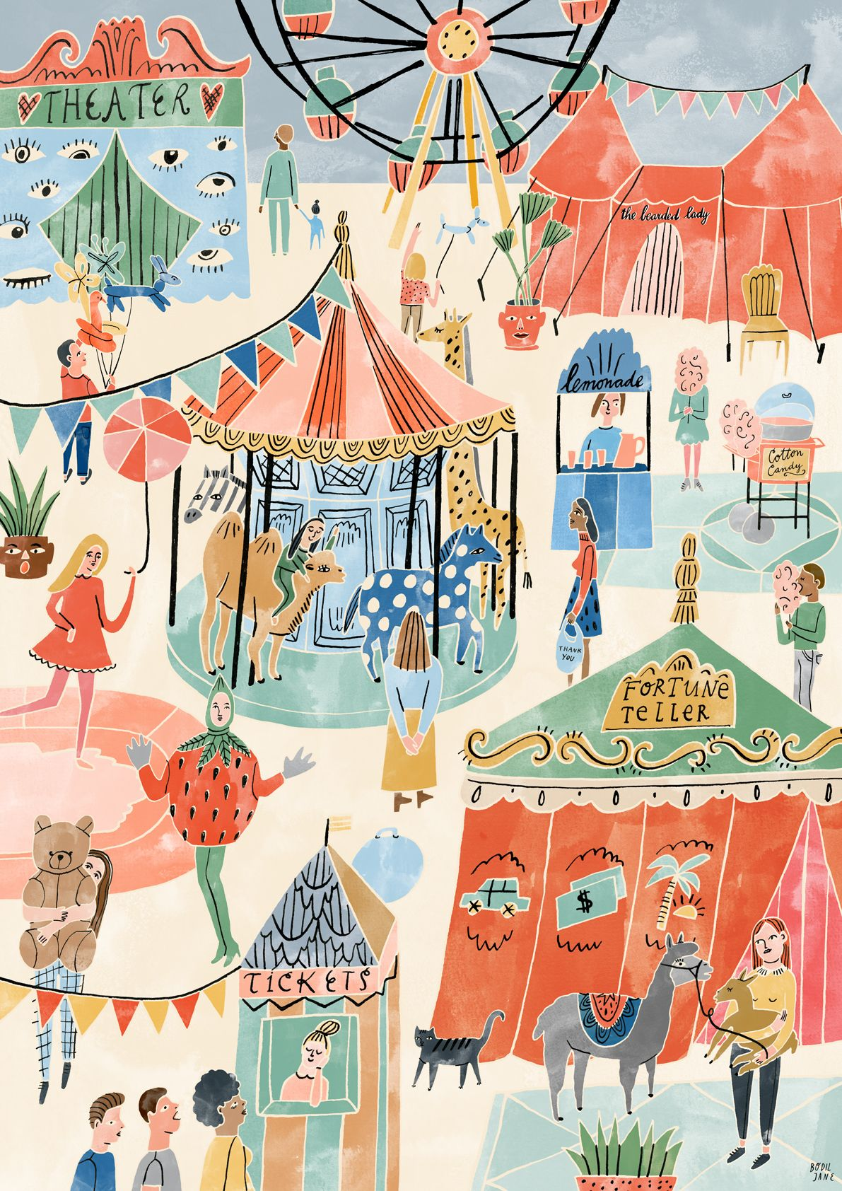Poster To the Fair OHMYHOME Children illustration Pinterest
