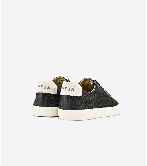 Veja Basket Esplar Tilapia Leather Leather Black Fr Veja Sneakers