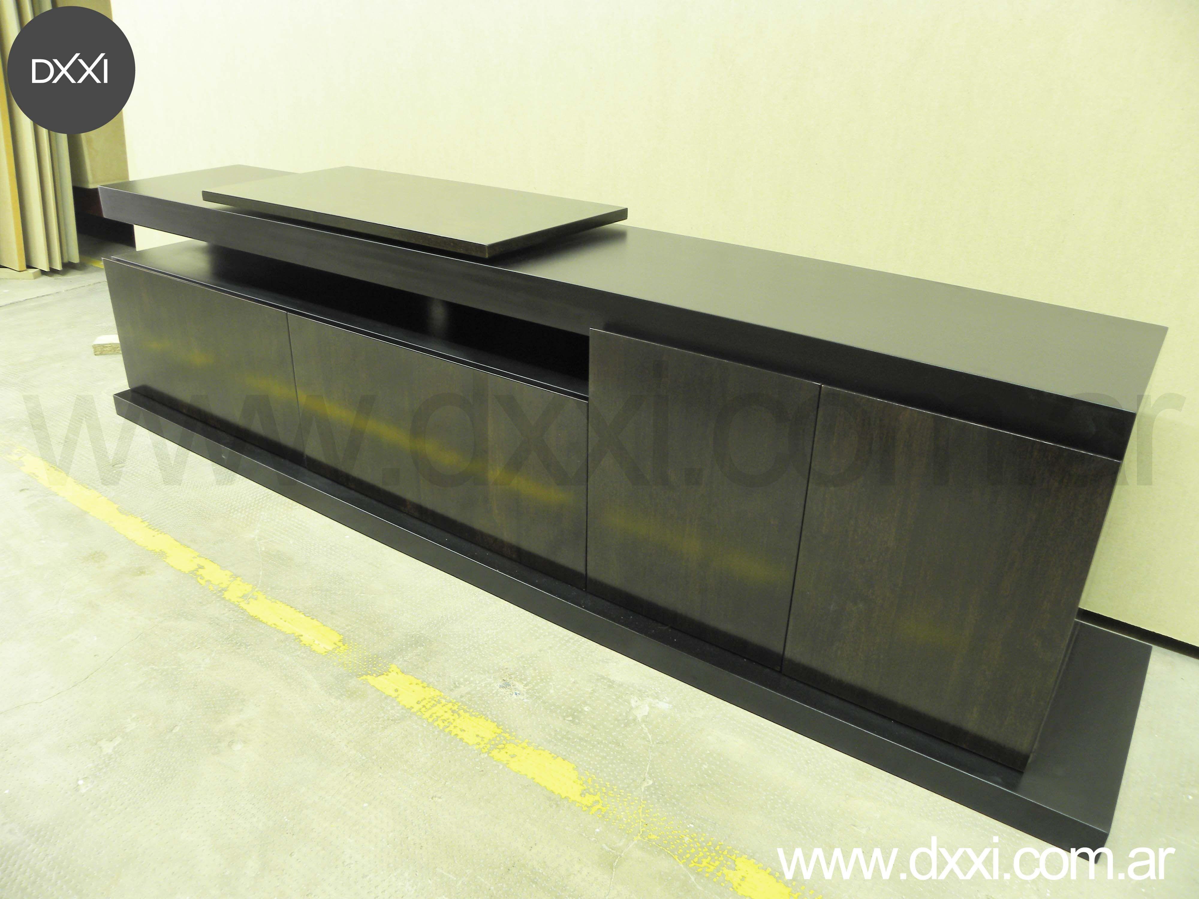 Mueble Para Tv Modelo Florida Con Plato Giratorio 220x40x55 2  # Muebles Nicasio Orono