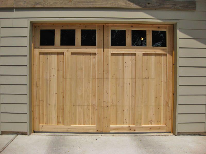 Carriage Garage Doors No Windows Wide Overlay Design