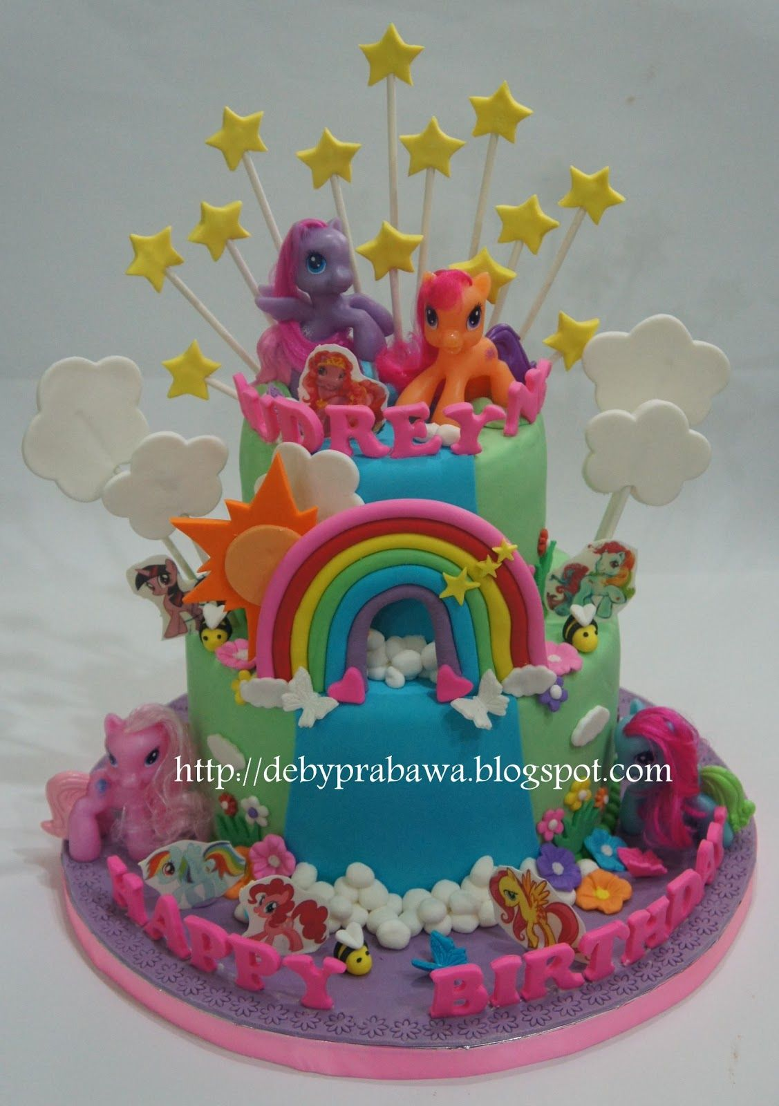 My Little Pony Birthday Party Cake Girls
