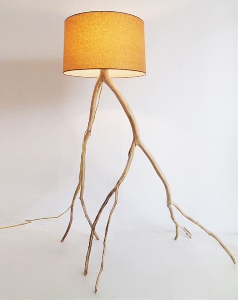 "Meghan Finkel makes her ""Branch Lights"" from fallen branches"