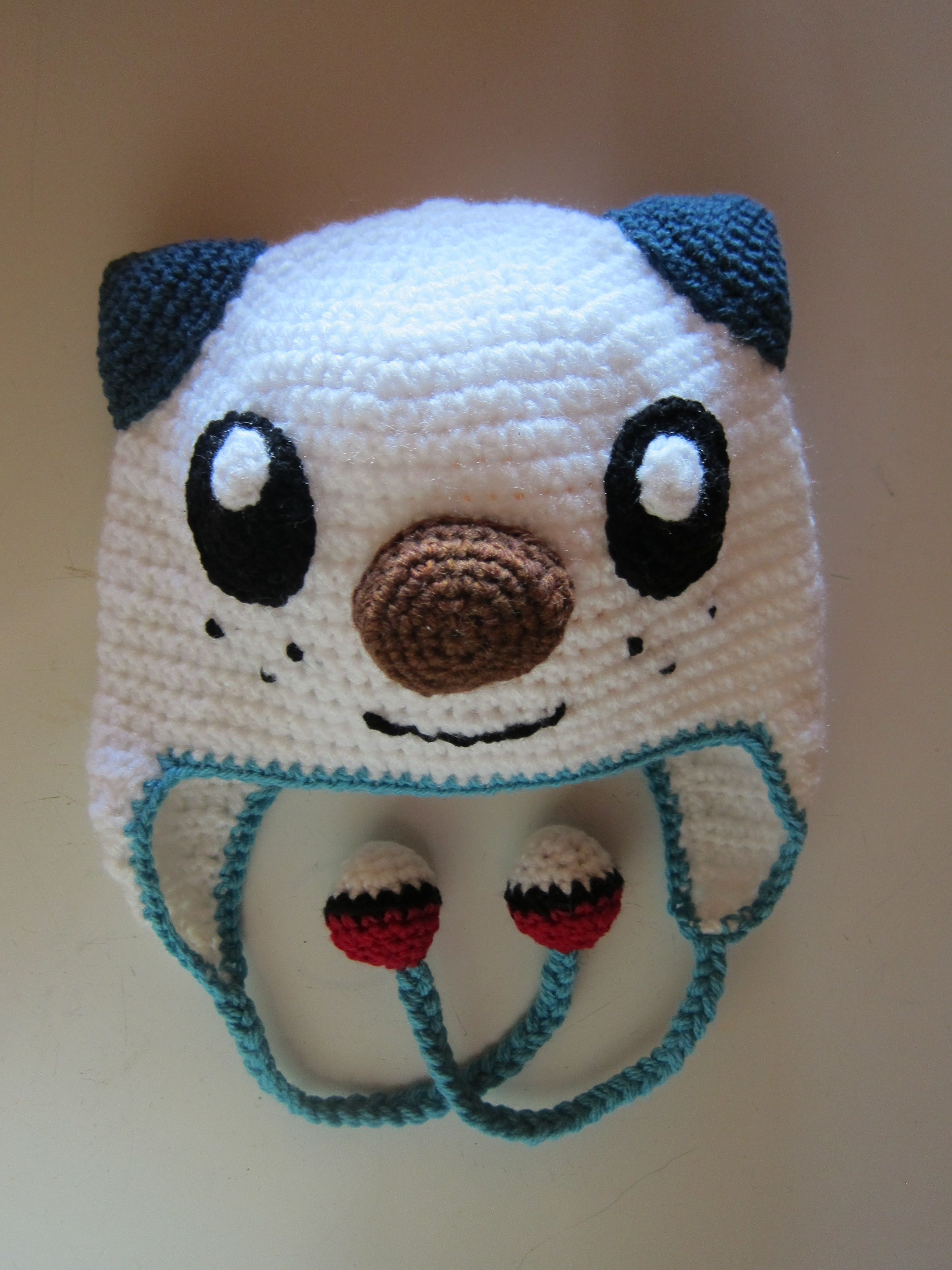 Crocheted Oshawott Hat Pokémon Character No Pattern Crochet