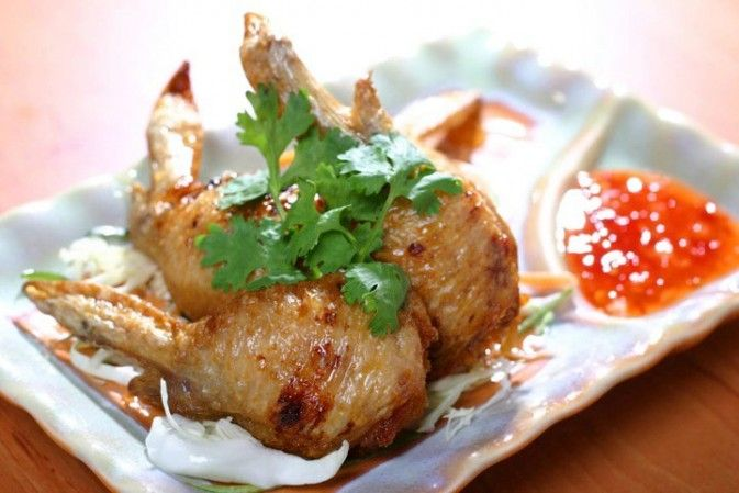 Food: Stuffed Chicken Wings with Sticky Rice at Banana Leaf Restaurant Cebu City