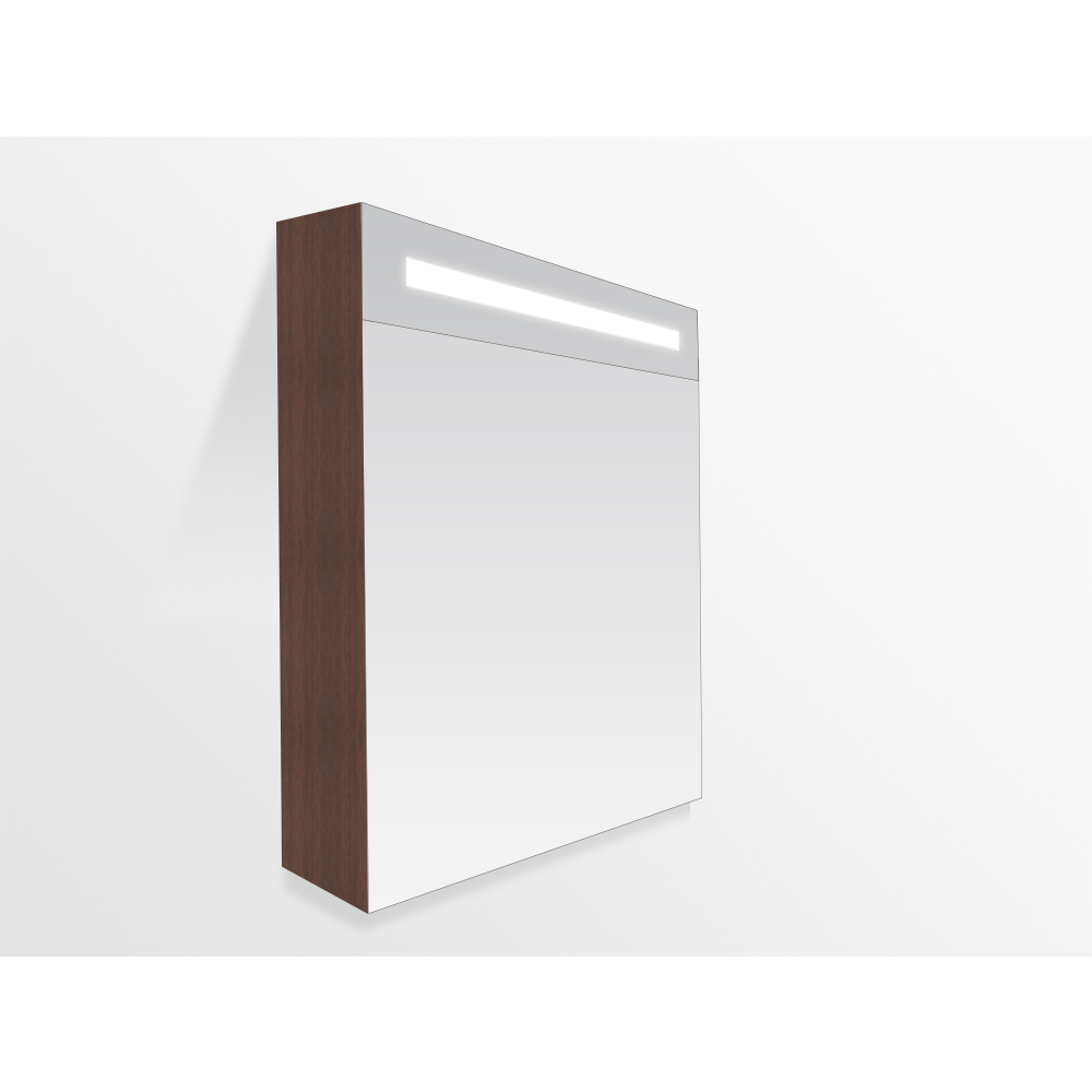 Spiegelkast Badkamer 60 Cm.Saniclass 2 0 Spiegelkast 60cm 1 Deur Grey Oak Rechts 7204