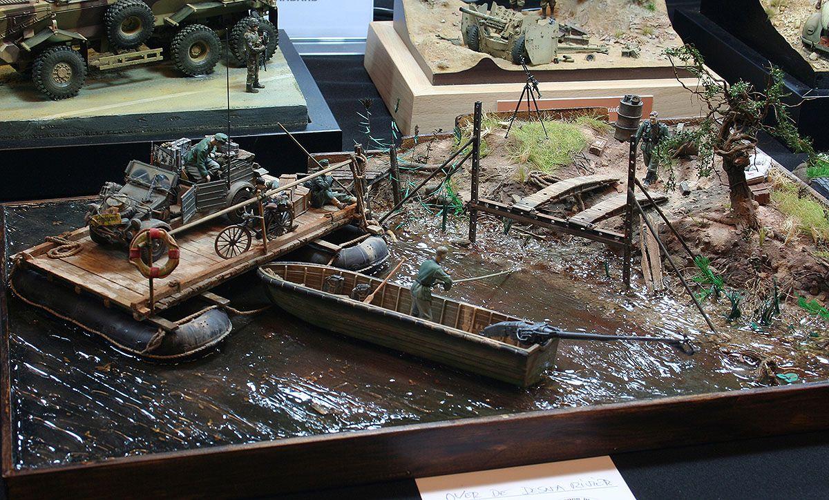1:35 Diorama,Volga River Dock,Soviet Union 1943. Built 3
