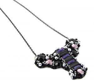 Purple Heirloom Necklace  INZ-0003   Inez Designs