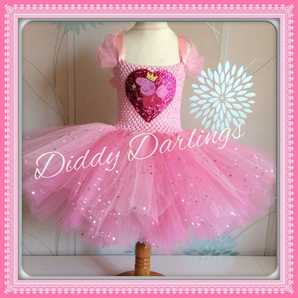 09948e1e12a6 Peppa Pig Tutu Dress. Pink Tutu Dress. Peppa Pig Dress. Princess Tutu Dress