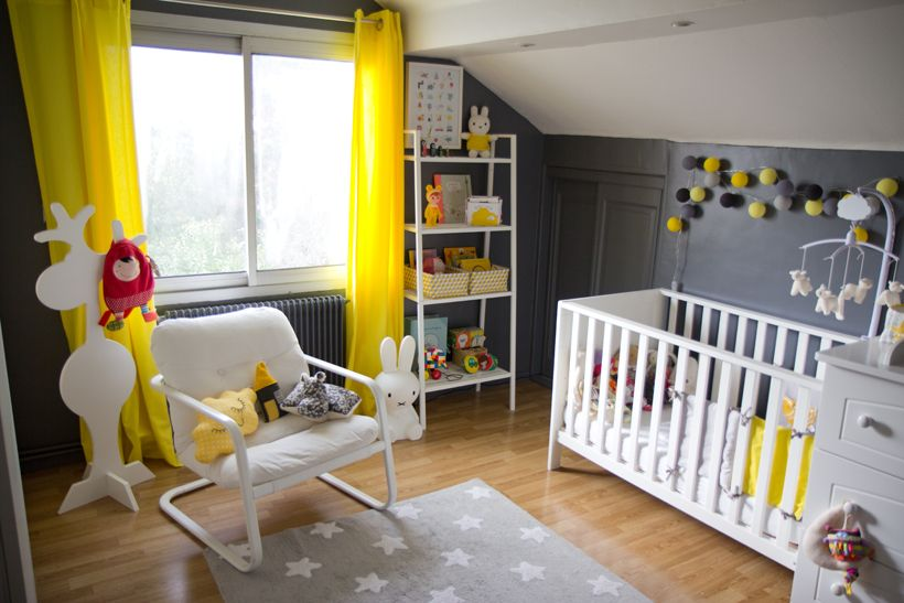 1000+ images about Deco chambre bébé gris jaune on Pinterest ...