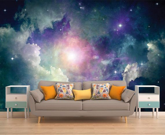 Space Wall Mural Outer Space Wall Mural Galaxy Wallpaper Stars