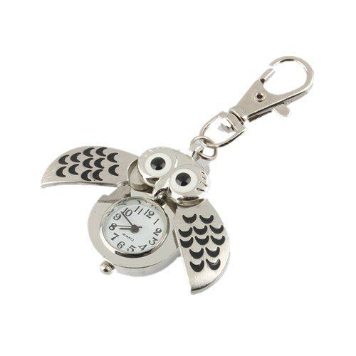 Oulm Women's Pocket Watch of Owl Shape or for Key Chain Clip Quartz Color Silver, http://www.junglee.com/dp/B00EWIZH0Y/ref=cm_sw_cl_pt_dp_B00EWIZH0Y/276-9436260-9095118