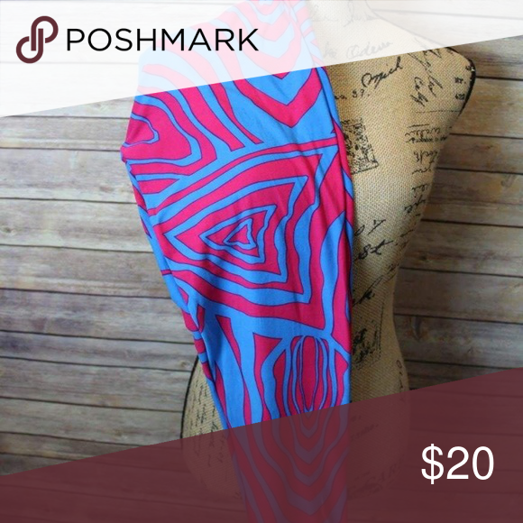 Lularoe zebra print leggings! Bright and fun tall and curvy lularoe zebra print leggings! Fit size 12-22. LuLaRoe Pants Leggings